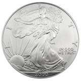 images of Silver Eagle Coin 2000