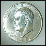 images of American Dollar Coin 1972
