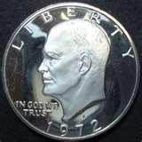 pictures of American Dollar Coin 1972