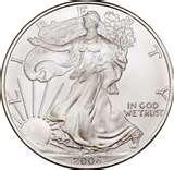 pictures of American Silver Eagle Coin 2010