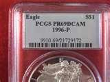 images of 1996 Silver American Eagle Proof