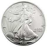 images of Silver Eagle Coin 1990 Silver