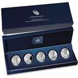 pictures of American Eagle 25th Anniversary Silver Coin Set