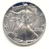 images of 2007 American Eagle Silver Dollar Uncirculated