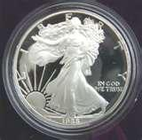 images of American Eagle One Ounce Proof Silver Bullion Coin 2005