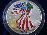 photos of American Eagle Silver Dollar In Full Color 2000