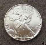 photos of American Eagle Silver Dollar 1990