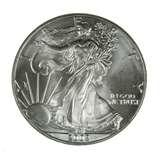 images of 2002 Silver American Eagle Coin Value