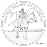 2012 Native American Dollar Coin photos