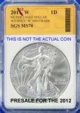 pictures of American Eagle Silver Dollar 2012