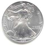 Silver Eagle Coin 1997 images