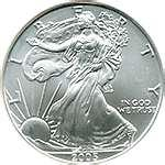 images of 1987 American Silver Eagle Coin Value