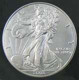 images of Silver Eagle Coin 2003
