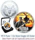 images of American Eagle Silver Dollar Full Color