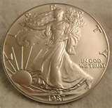 photos of 1987 American Silver Eagle Coin Value
