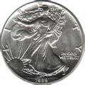 images of American Eagle Silver Dollar Value 1991