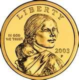pictures of American One Dollar Coin 2000