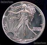 pictures of 1987 American Silver Eagle Coin Value