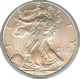 images of 2004 Silver American Eagle Coin Value