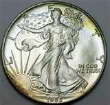 pictures of 1986 American Eagle Silver Coin Value