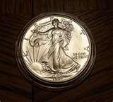 pictures of American Eagle Fine Silver Dollar