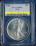 images of American Eagle Silver Dollar 1992 Value