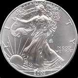 images of Eagle Silver Dollar Coins