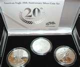 pictures of 2006 Eagle Silver Dollar Set