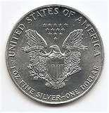 images of Silver Eagle Coin Troy Ounce