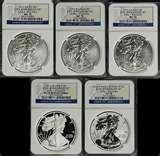 images of 25th Anniversary Silver Eagle Coin Set