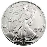 images of Silver Eagle Coin 1991