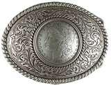 images of Silver Eagle Coin Belt Buckle