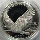 images of 2008 Eagle Silver Dollar Proof