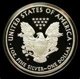 images of 2010 American Eagle Silver Proof Coin