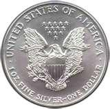 images of 2000 Silver Eagle Dollar Value