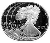 photos of Eagle Silver Dollar Proof Coins