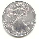 photos of 2000 Silver Eagle Dollar Value
