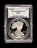 pictures of Eagle Silver Dollar Proof Coins
