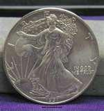 pictures of American Eagle Silver Dollar 1991