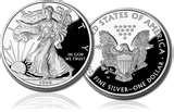 images of 1993 American Eagle Silver Dollar Value