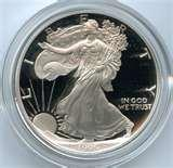 photos of American Eagle Silver Proof Coins 1995