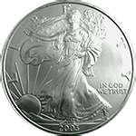 photos of 1999 Silver Eagle Coin Value
