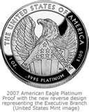 photos of 2007 American Eagle Silver Proof Coin