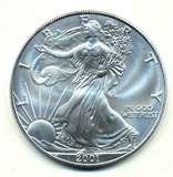 pictures of American Eagle Silver Dollar 2001
