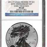 2011 Silver Eagle Coin Ms70 photos