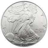 images of Silver Eagle Coin 2001