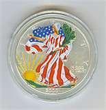 2000 Eagle Silver Dollar In Full Color pictures