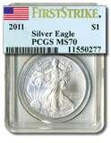 2011 Silver Eagle Coin Ms70 pictures