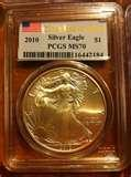 pictures of 2010 Silver Eagle Coin Ms70