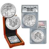 images of 2010 Silver Eagle Coin Ms70